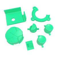 Game Gear Buttons Sega Replacement Dark Green Keys Start A B DPad Power
