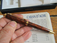 Caran D'Ache Geneve brown-amber lacquer ballpoint Mint