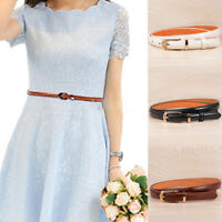 HO_ Fashion Faux Leather Pin Buckle Women Pants Skirt Dress Waistband Waist Belt