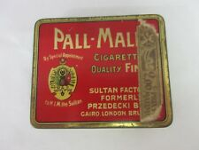 VINTAGE ADVERTISING TOBACCO PALL-MALL CIGARETTE FLAT  TIN COLLECTIBLE   M-21