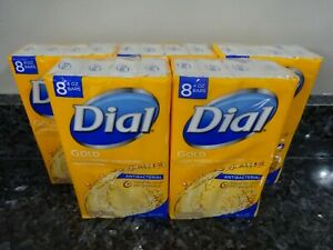 40 Dial GOLD Clean Rinsing, Non-Drying Deodorant 4 oz. Bar Soap 5 packages of 8