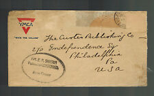 1919 US Army Cover AEF Vladivostock Russia Allied Expeditionary Force YMCA to US