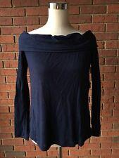 KOOKAI Off Shoulder Merino Wool Navy Sweater Bonnie Top NWT