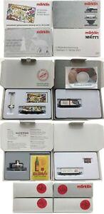 MARKLIN Z SCALE M/M S260-S262-S281-S284 Collector Cars Original Boxes - C9