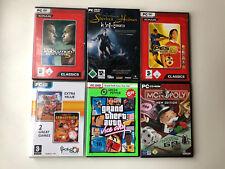 GTA Vice City Pro Evolution Soccer Worms Monopoly Sherlock Holmes - Games für PC