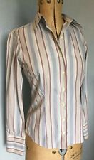THOMAS PINK Tailored Finest Cotton Fitted Smart Stripe Shirt Blouse UK 6