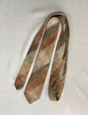 Original Vtg 60s Skinny Neck Tie Wool Plaid Millars Ireland 57�