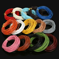 5 Meters 100% Real Leather Rope String Cord Necklace Charms 1.0/2.0mm DIY Making