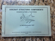 Aircraft Structural Components Book