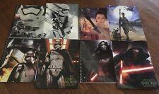 Star Wars The Force Awaken Notebook Folder Lot Rey Storm Trooper Phasma Kylo Ren