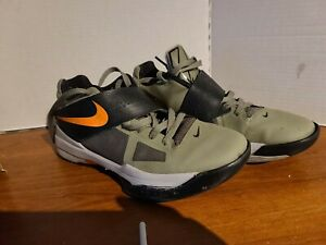 FOR REPEAIR  Nike Zoom KEVIN DURANT KD IV 4 ROGUE GREEN ORANGE UNDFTD  Size 10