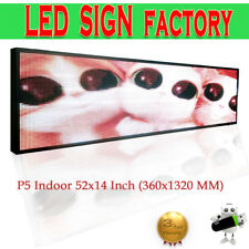 P5 Indoor full color LED display 1320X360mm scrolling text,video LED screen