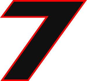 NEW FOR 2020 #7 Alan Kulwicki Racing Sticker Decal - SM thru XL - various colors