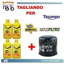 TAGLIANDO FILTRO OLIO + 4LT BARDAHL XTC 10W40 TRIUMPH BONNEVILLE 865 2007