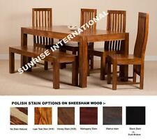 Wooden Dakota Range - Wood Dining table with 4 Chair + 1 bench set (6 pc set) !!