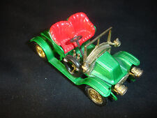 Old Vtng Lesney 1911 Renault  No 2 Toy Car  Made In England Green/ Red Seat