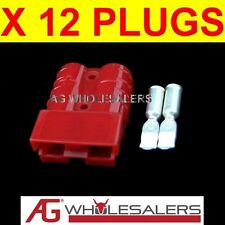 12 x RED ANDERSON STYLE 50 AMP PLUG CONNECTORS JOINER 12V DUAL BATTERY 50a