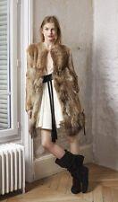 NWT Maje GROENLAND Rabbit & Racoon real fur coat Jacket Sz 36 XS $2400