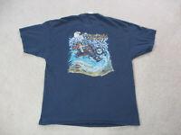 Harley Davidson Shirt Adult Extra Large Blue Gray North Carolina Biker Mens