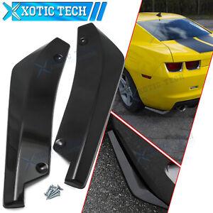 For Chevy Camaro Glossy Black Rear Bumper Splitter Diffuser Canard Wrap Spoiler