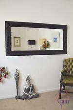Exclusive Bevelled Hand Made Large Black Ornate Mirror 5ft10 X 2ft10 177X86cm