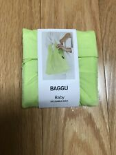 NWT Baby Baggu Nylon Tote in Solid Lime Pattern; Folds Into Pouch For Storage