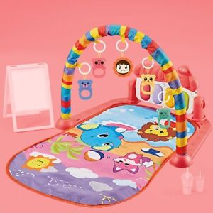 Baby Infant Play Mat Piano Gym Activities Rug Toys For 0-12 Months