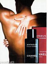 PUBLICITE ADVERTISING 046  1988   Chanel  eau toilette homme Antaeus