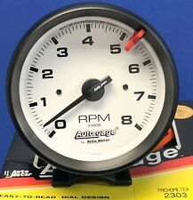 "Auto Meter Autogage 2303 Tachometer Tach 8000 RPM White Pedestal Mount 3 3/4"""