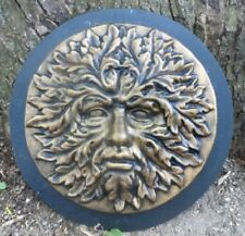 Greenman mold  face plaster concrete Green man  casting garden plaque mould