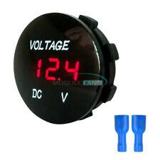 12V-24V Red LED Panel Digital Voltage Meter Display Voltmeter for Motorcycle Car