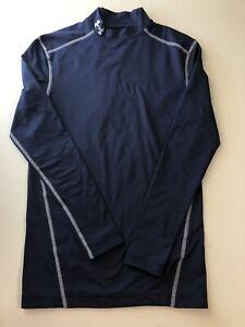Under Armour UA Cold Gear Compression Mock Neck Long Sleeve Shirt Mens Medium