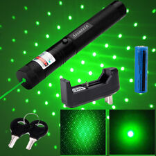 Star Cap 2In1 Green Laser Pointer 4mW Adjustable Focus/Zoom + Battery Charger