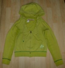 Ladies Designer MISS SIXTY Lime Green Cotton Blend Zip Up Hooded Jacket - Size M