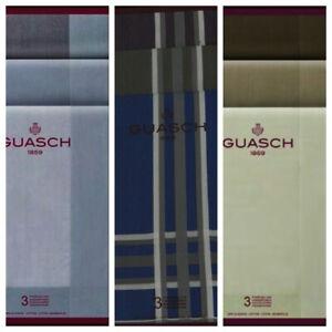 Caja 3 Pañuelos GUASCH 43x43 ctms 100% algodón surtido de colores España