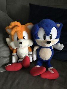 "Vintage Sonic The Hedgehog And Tails Plushes Sega 1990's 90s Retro Teddies 15"""