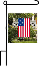"""Garden Yard Flag Pole Holder Stand Metal Wrought Iron Stake For 12""""x18"""" Flag US"""