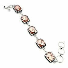 "Jewelry Bracelet 7-8"" Kp11145 Morganite Gemstone .925 Silver"