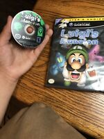 Luigi's Mansion Nintendo GameCube Game 2001 No Manual Working Tested