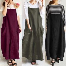 Women Strappy Suspender Shirt Dress Bib Cargo Oversize Summer Sundress Dress