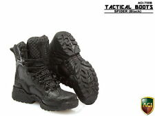 "ACI 1/6 Scale Tactical Boots Spider Black Shoes For 12"" Male Action Figure Body"