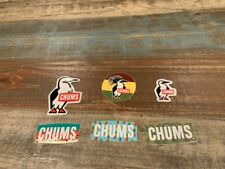6 Chums Stickers Penguin Logo Pineapple Green Awesome Stickers!