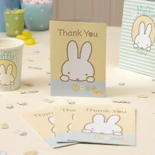 BABY MIFFY Thank You Cards & Envelopes x 10 Birthday / Baby shower / Christening