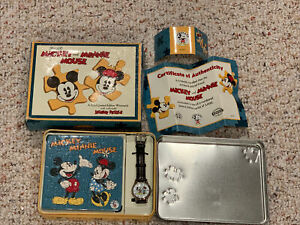 Vintage Fossil Mickey and Minnie Mouse Watch Puzzle Tin NOS Limited Edition