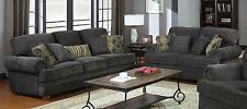 Coaster 504401 402 Colton Smokey Grey Chenille Sofa And Loveseat Set