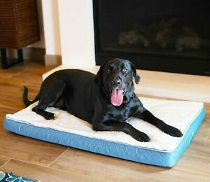 Orthopedic Memory Foam Pet Bed with Sherpa Top and Cooling Gel Infused Layer