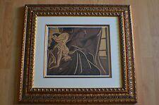Pablo Picasso  ~ Duex Femmes Pres de la Fentre  Color Linocut 1962 Framed ~ COA