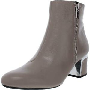 DKNY Womens Crosbi Leather Almond Toe Style Ankle Boots Shoes BHFO 4735
