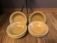 Vintage Fiesta Casualstone Gold Fruit/Cereal Bowls (8)