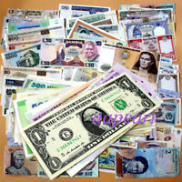100pcs World Banknotes Different 100% Real paper money Rare Collections UNC